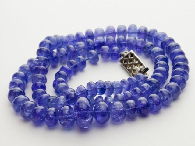 152ct Blue Tanzanite Bead Strands Silver Clasp (B51X1)