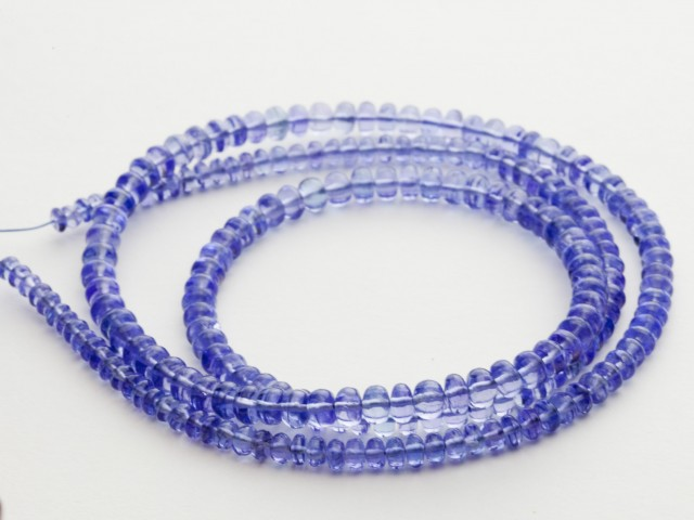 65ct Blue Tanzanite Bead Strands (B55BB1)
