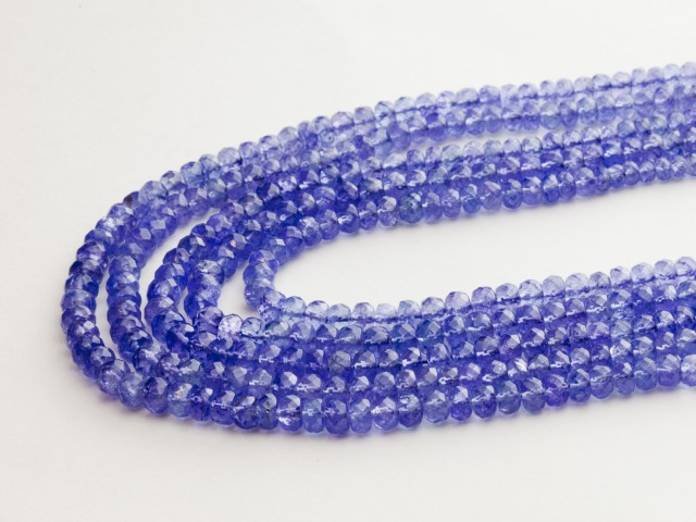 305ct Blue Tanzanite Bead Rope Necklace (B57DD1)