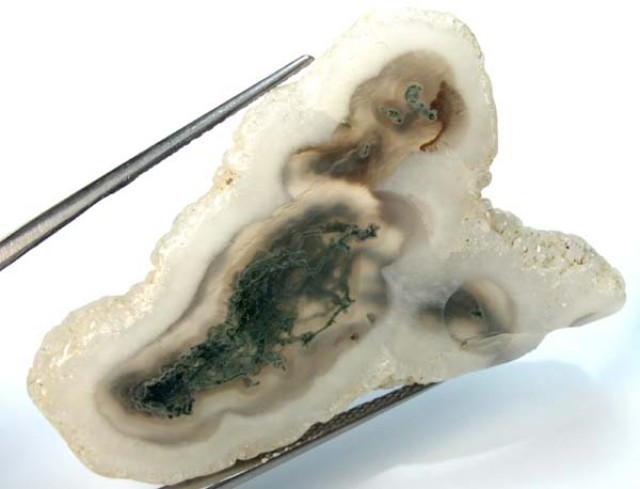 MOSS AGATE DRILLED PENDANT  60.5  CTS NP-92