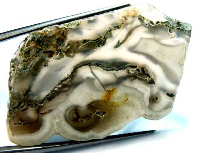 MOSS AGATE DRILLED PENDANT   49.5 CTS NP-98