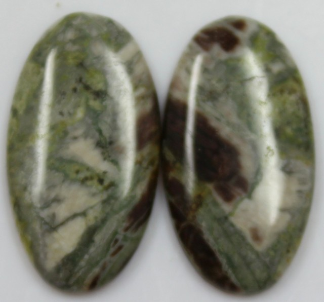 24.75 CTS JASPER PAIR POLISHED STONES GREAT RANGE IN STORE