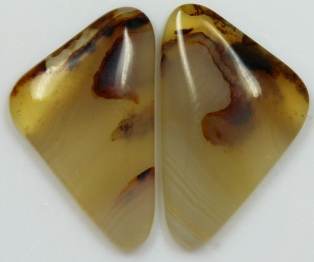 16.70 CTS AGATE PAIR POLISHED STONES GREAT RANGE IN STORE