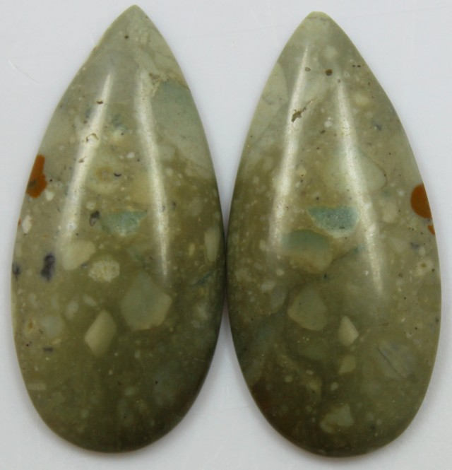 29.55 CTS JASPER PAIR POLISHED STONES GREAT RANGE IN STORE