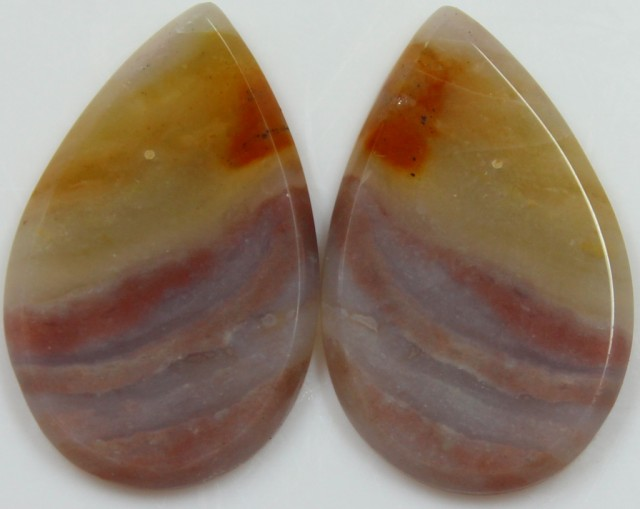 28.75 CTS JASPER PAIR POLISHED STONES GREAT RANGE IN STORE