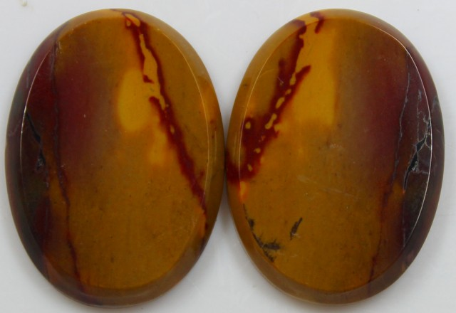 35.60 CTS JASPER PAIR POLISHED STONES GREAT RANGE IN STORE