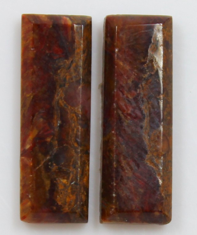 8.90 CTS JASPER PAIR POLISHED STONES GREAT RANGE IN STORE