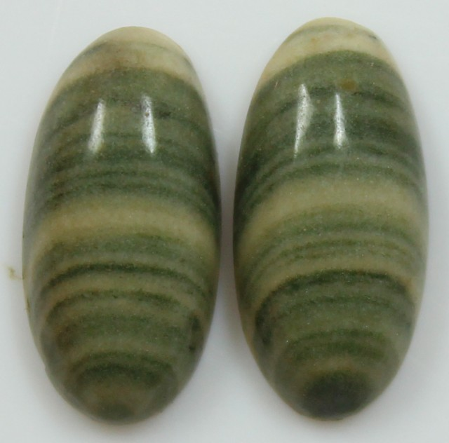 9.00 CTS JASPER PAIR POLISHED STONES GREAT RANGE IN STORE