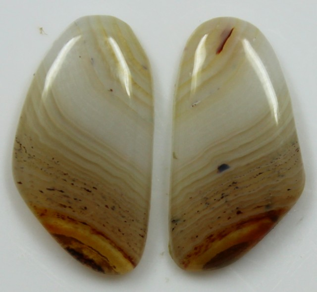 14.10 CTS AGATE PAIR POLISHED STONES GREAT RANGE IN STORE