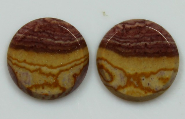5.85 CTS JASPER PAIR POLISHED STONES GREAT RANGE IN STORE