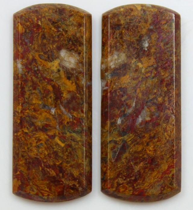 31.30 CTS JASPER PAIR POLISHED STONES GREAT RANGE IN STORE