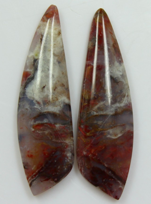 24.65 CTS AGATE PAIR POLISHED STONES GREAT RANGE IN STORE