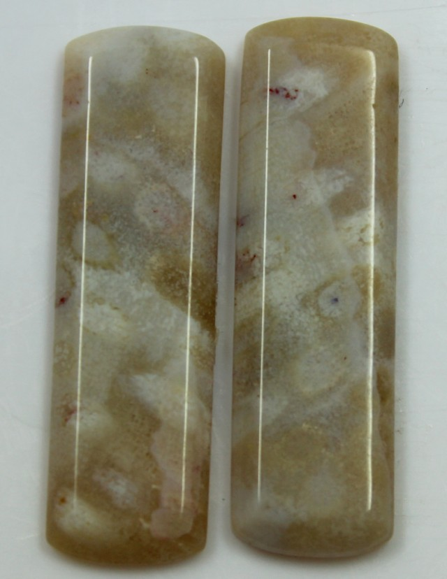26.80 CTS AGATE PAIR POLISHED STONES GREAT RANGE IN STORE