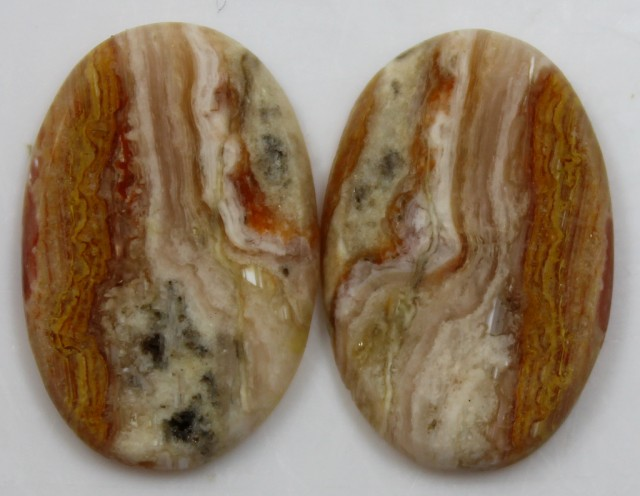 18.60 CTS JASPER PAIR POLISHED STONES GREAT RANGE IN STORE