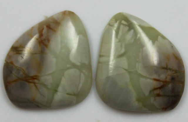 17.10 CTS JASPER PAIR POLISHED STONES GREAT RANGE IN STORE