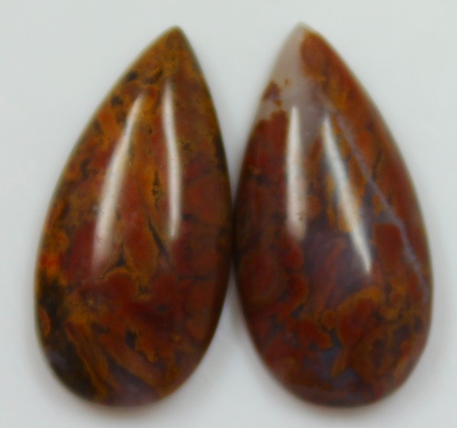 20.20 CTS JASPER PAIR POLISHED STONES GREAT RANGE IN STORE