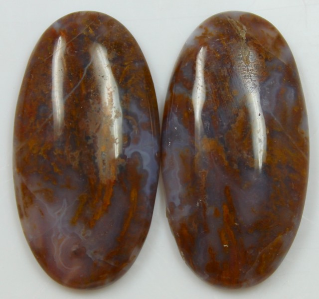 44.20 CTS JASPER PAIR POLISHED STONES GREAT RANGE IN STORE