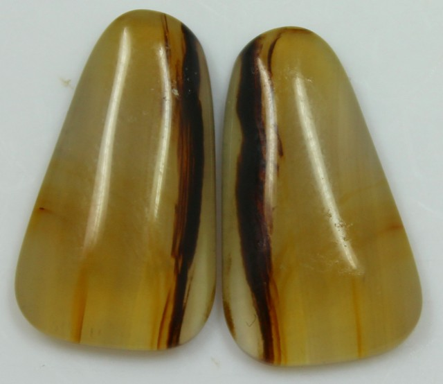 15.50 CTS AGATE PAIR POLISHED STONES GREAT RANGE IN STORE