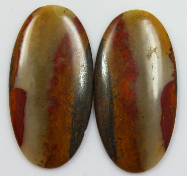 27.40 CTS JASPER PAIR POLISHED STONES GREAT RANGE IN STORE
