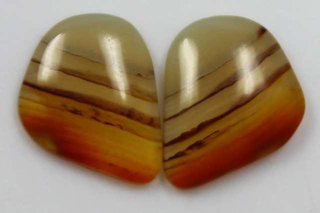 6.80 CTS AGATE PAIR POLISHED STONES GREAT RANGE IN STORE
