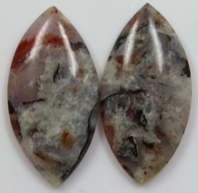 22.85 CTS JASPER PAIR POLISHED STONES GREAT RANGE IN STORE