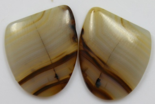 18.80 CTS JASPER PAIR POLISHED STONES GREAT RANGE IN STORE