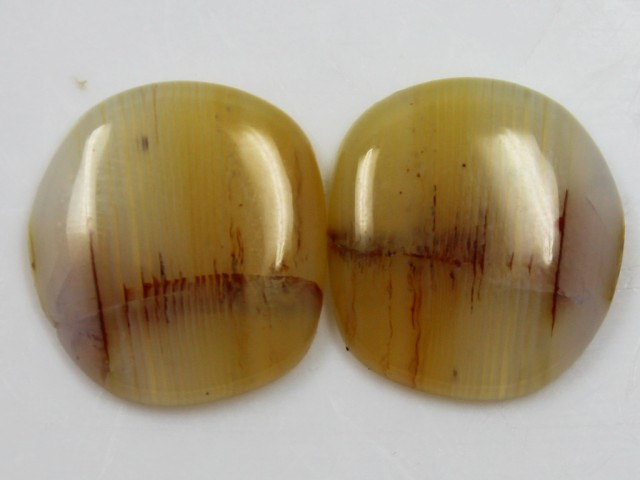 17.60 CTS AGATE PAIR POLISHED STONES GREAT RANGE IN STORE