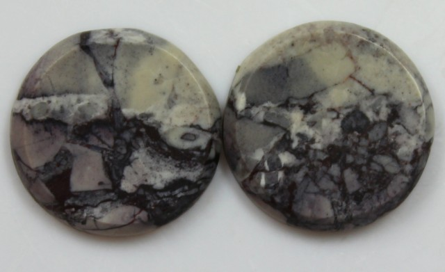 21.05 CTS JASPER PAIR POLISHED STONES GREAT RANGE IN STORE