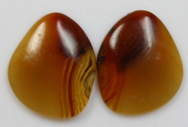 11.05 CTS AGATE PAIR POLISHED STONES GREAT RANGE IN STORE
