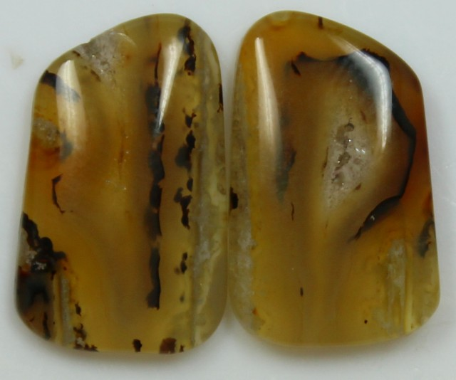 11.50 CTS AGATE PAIR POLISHED STONES GREAT RANGE IN STORE