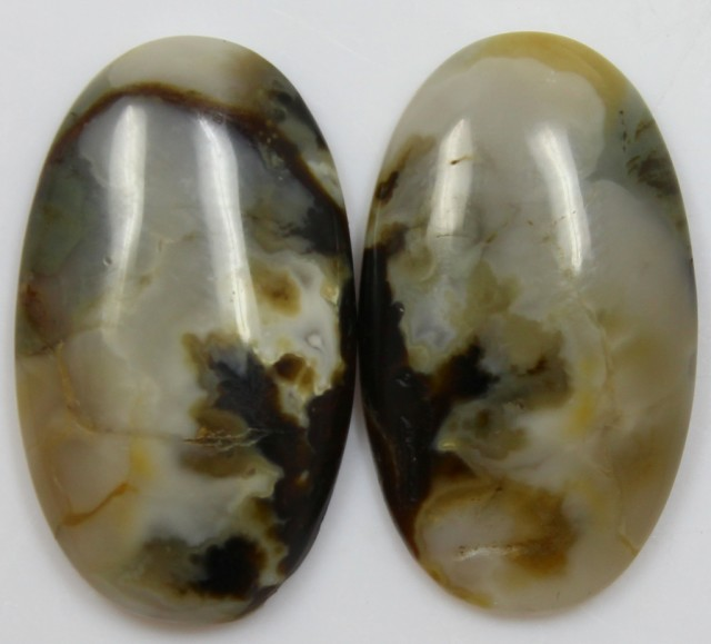28.85 CTS JASPER PAIR POLISHED STONES GREAT RANGE IN STORE