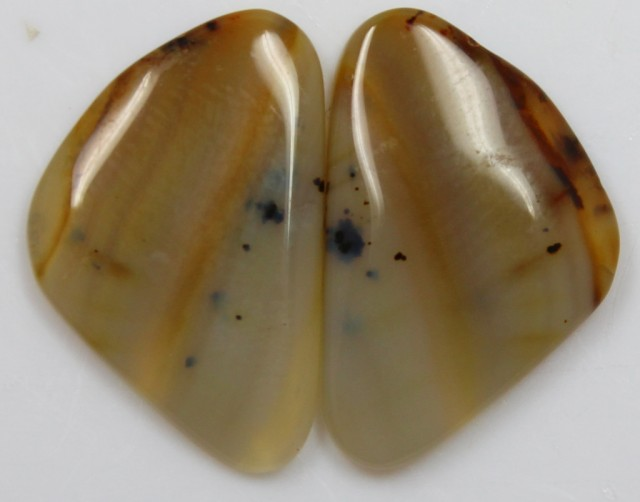 18.55 CTS AGATE PAIR POLISHED STONES GREAT RANGE IN STORE