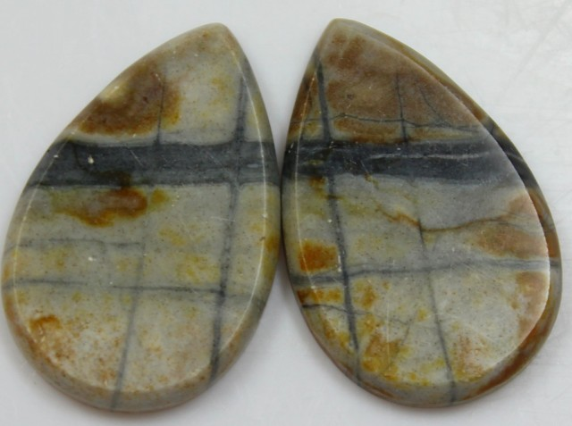 32.50 CTS JASPER PAIR POLISHED STONES GREAT RANGE IN STORE
