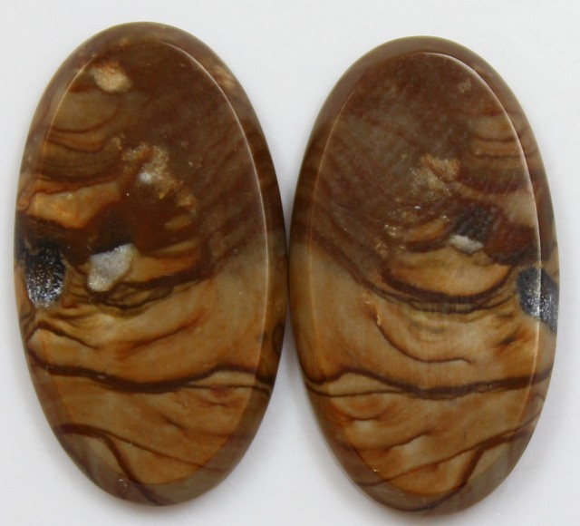 26.55 CTS JASPER PAIR POLISHED STONES GREAT RANGE IN STORE