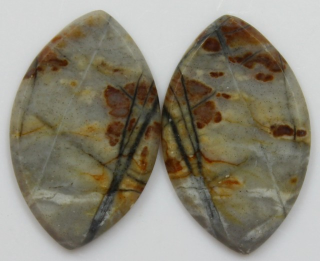 14.40 CTS JASPER PAIR POLISHED STONES GREAT RANGE IN STORE