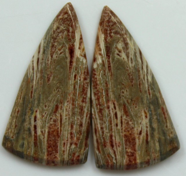 23.85  CTS JASPER PAIR POLISHED STONES GREAT RANGE IN STORE