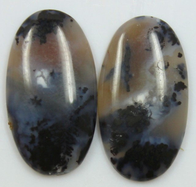 16.25 CTS JASPER PAIR POLISHED STONES GREAT RANGE IN STORE