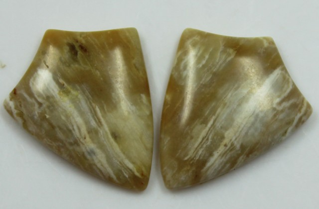20.15 CTS JASPER PAIR POLISHED STONES GREAT RANGE IN STORE