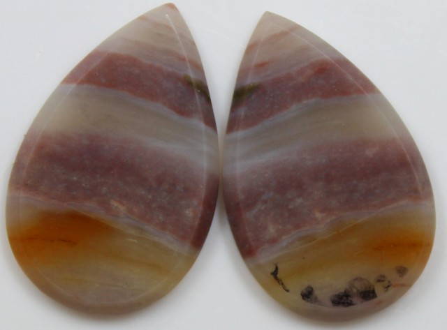 27.05  CTS JASPER PAIR POLISHED STONES GREAT RANGE IN STORE