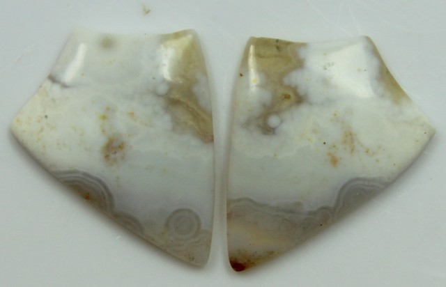 15.40 CTS JASPER PAIR POLISHED STONES GREAT RANGE IN STORE
