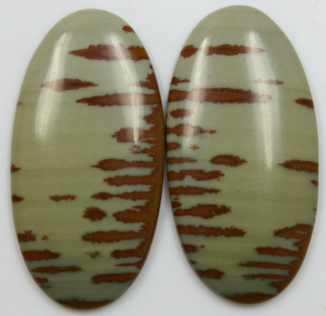 49.70  CTS JASPER PAIR POLISHED STONES GREAT RANGE IN STORE