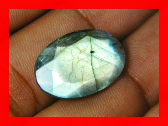 13cts AAA+ Labradorite Faceted Stone Z1111