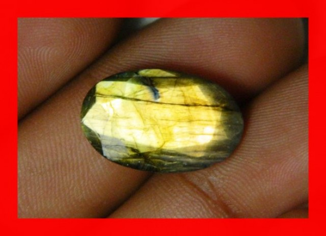 10cts AAA+ Labradorite Faceted Stone Z1116
