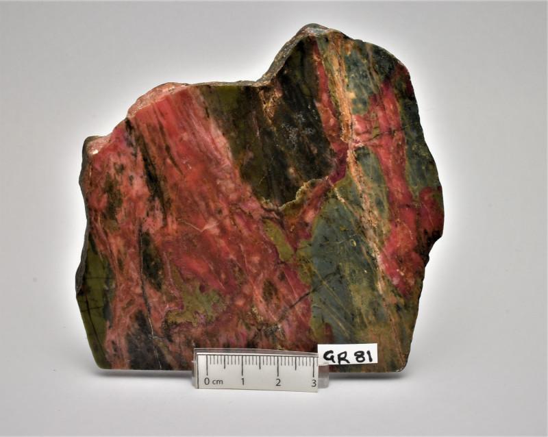 Rhodonite Polished Slice, NSW Australia (GR81)
