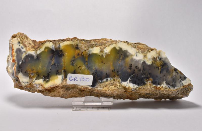 Dentritic Chalcedony Merlinite Polished  Australia (GR130)