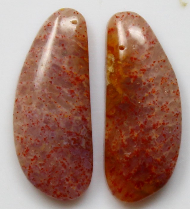5.00 CTS  PAIR OF POLISHED CORAL NATURAL STONES