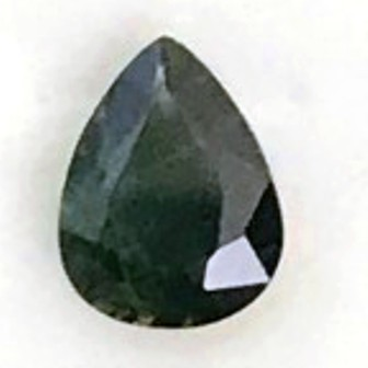 1.95 Lovely Shiny Dark Green Pear Sapphire VVS TH26 F89