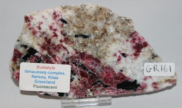 Eudialyte Slice, IIimaussaq complex, Greenland (GR161)