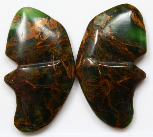 35.10 CTS JASPER PAIR BUTTERFLY STONES GREAT RANGE IN STORE