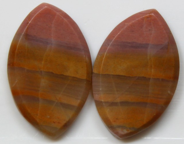 22.05 CTS JASPER PAIR POLISHED STONES GREAT RANGE IN STORE